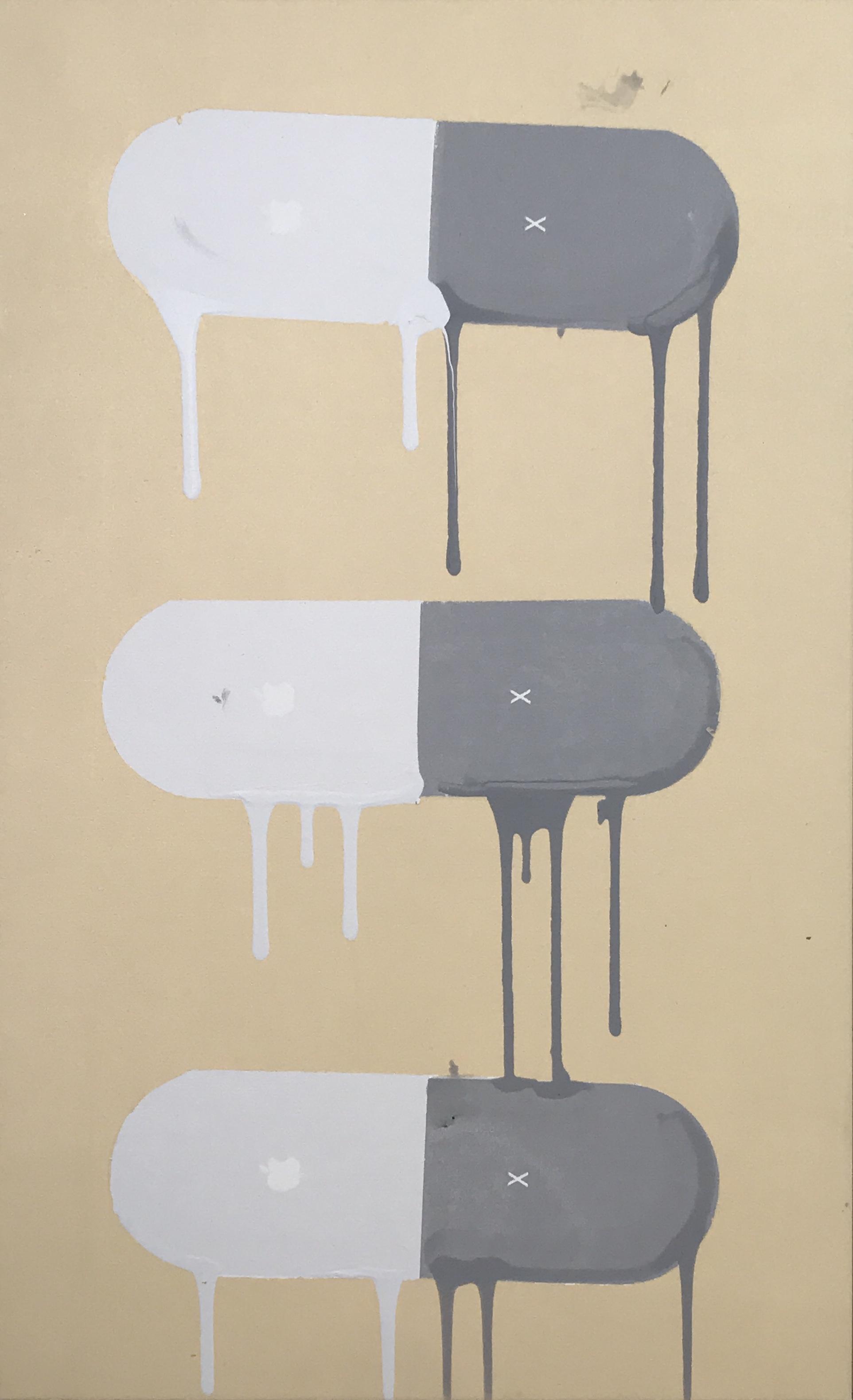 glitch 1/1 - 34 x 21 Acrylic on Canvas,Nov '17Buyer Inquiry