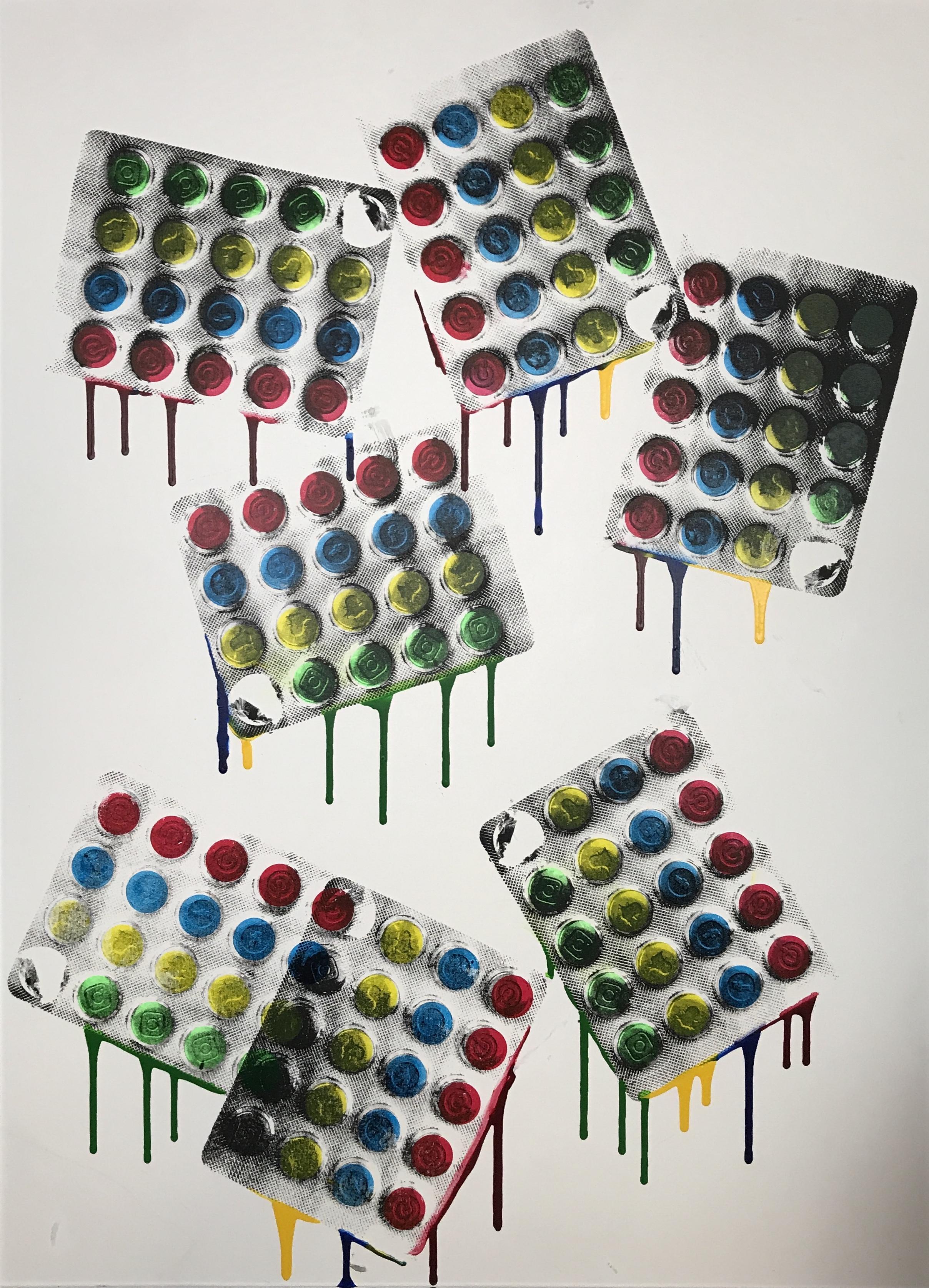 blista twista 1/1 - 42.5 x 58.5 Acrylic on Canvas, Jan '18Buyer Inquiry
