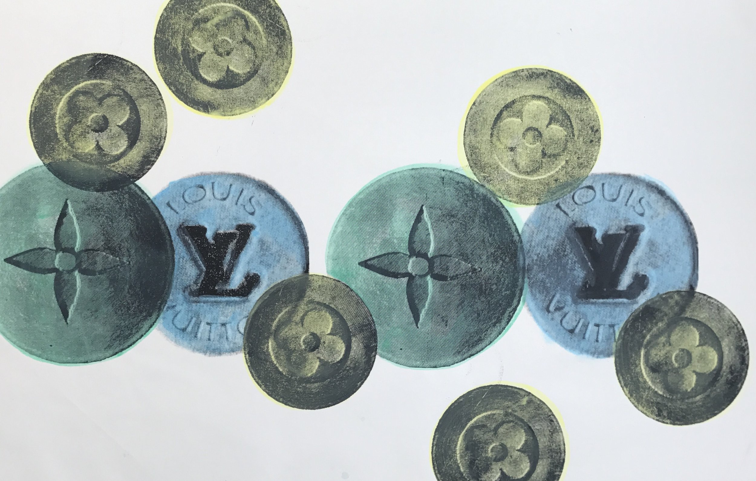LV Valium - 36 x 24 Acrylic on Canvas, Sep '17Buyer Inquiry
