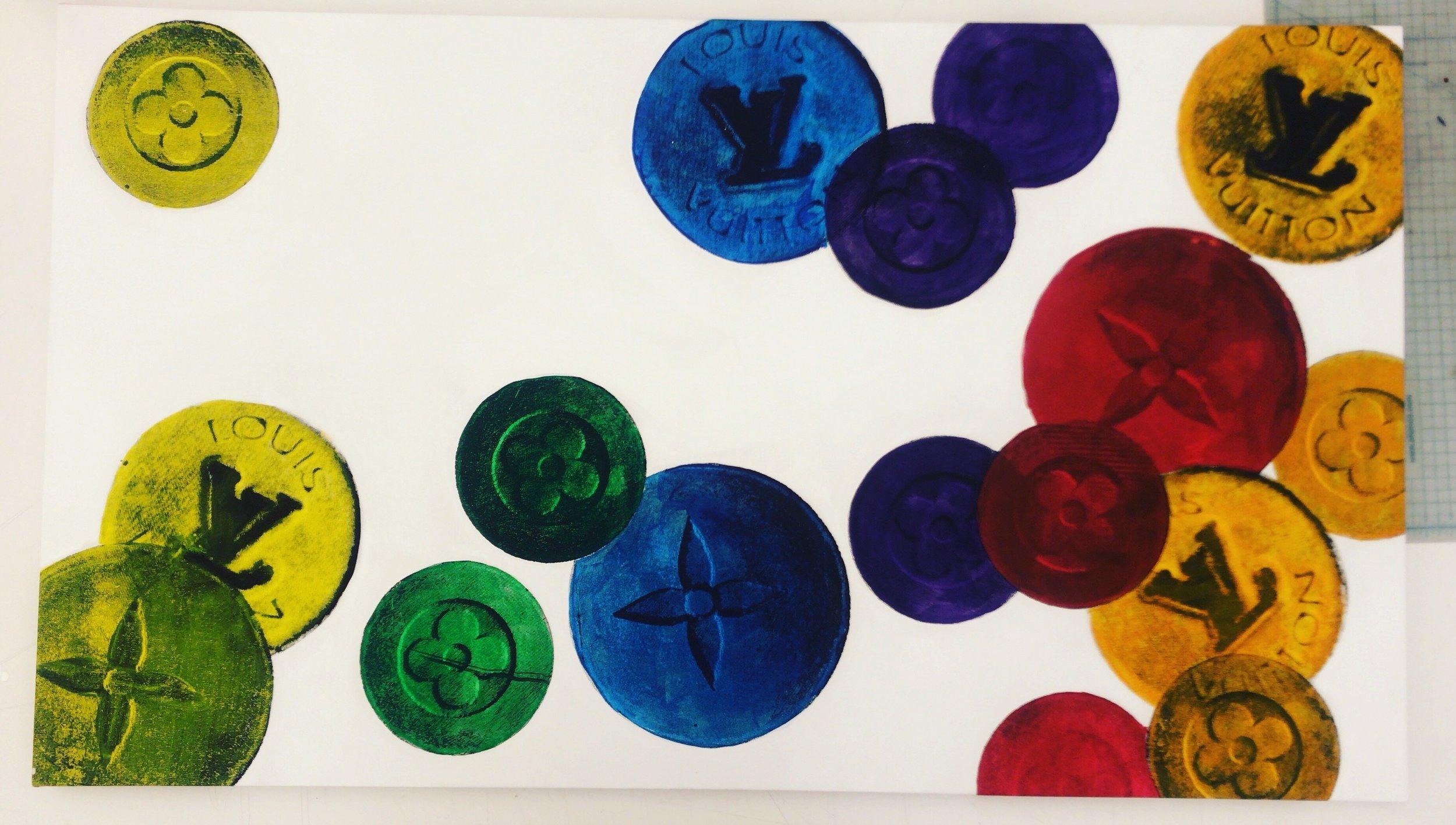 Louis Vuitton Valium - 54 x 33 | Acrylic on Canvas | July 18 |Buyer Inquiry
