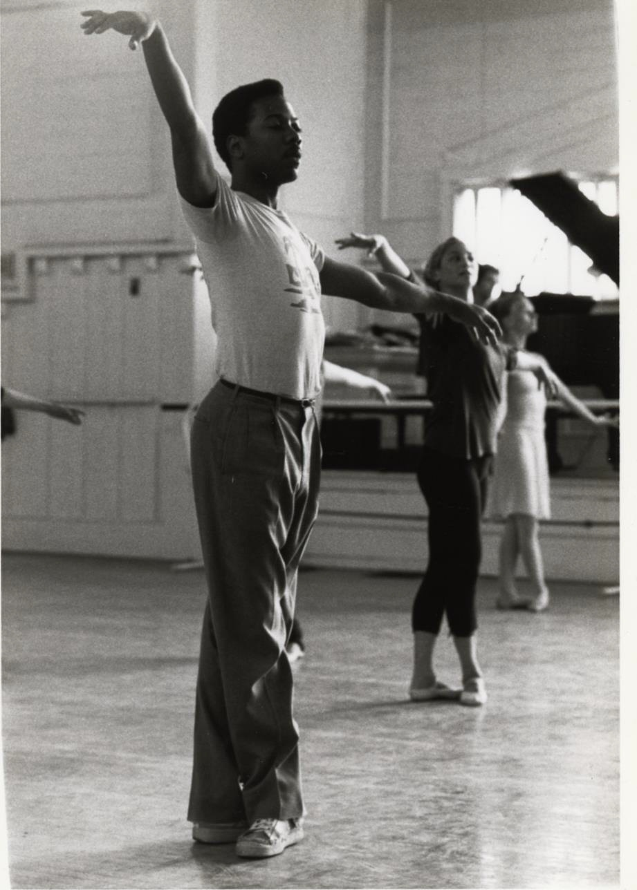 Alonzo King (circa 1983). Photograph by Katherine Kahrs, Museum of Performance + Design. All rights reserved