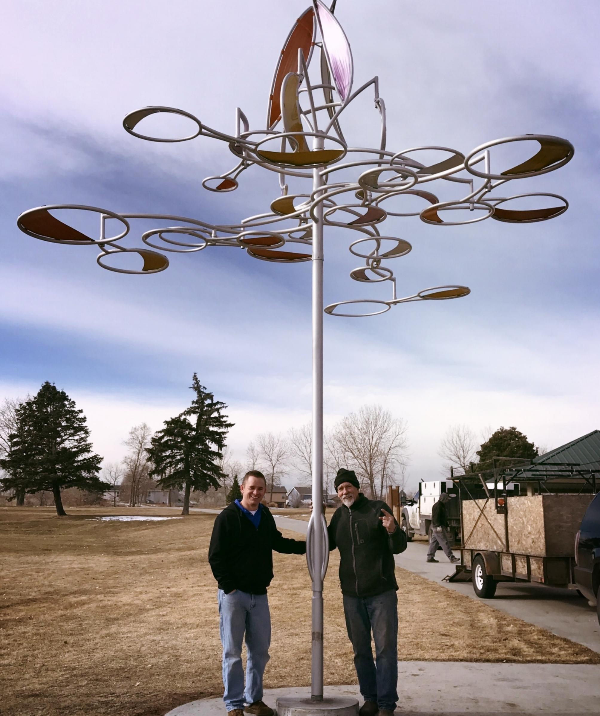 Gabe Rodriguez and John King at Rotella Park Installation