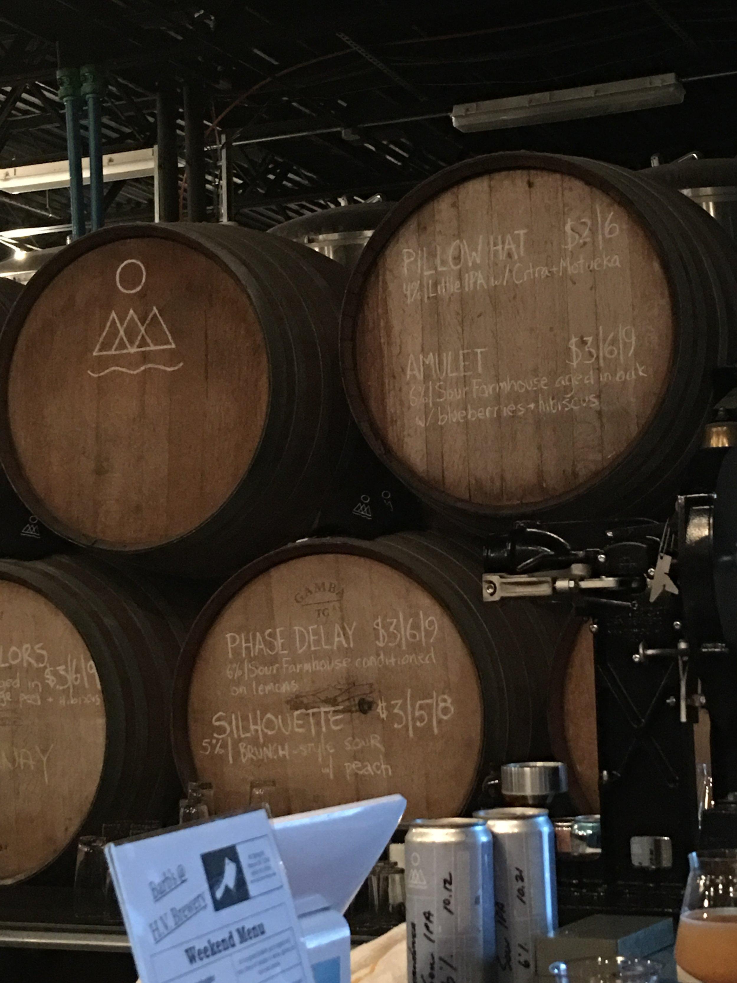 Barrels at Hudson Valley Brewing