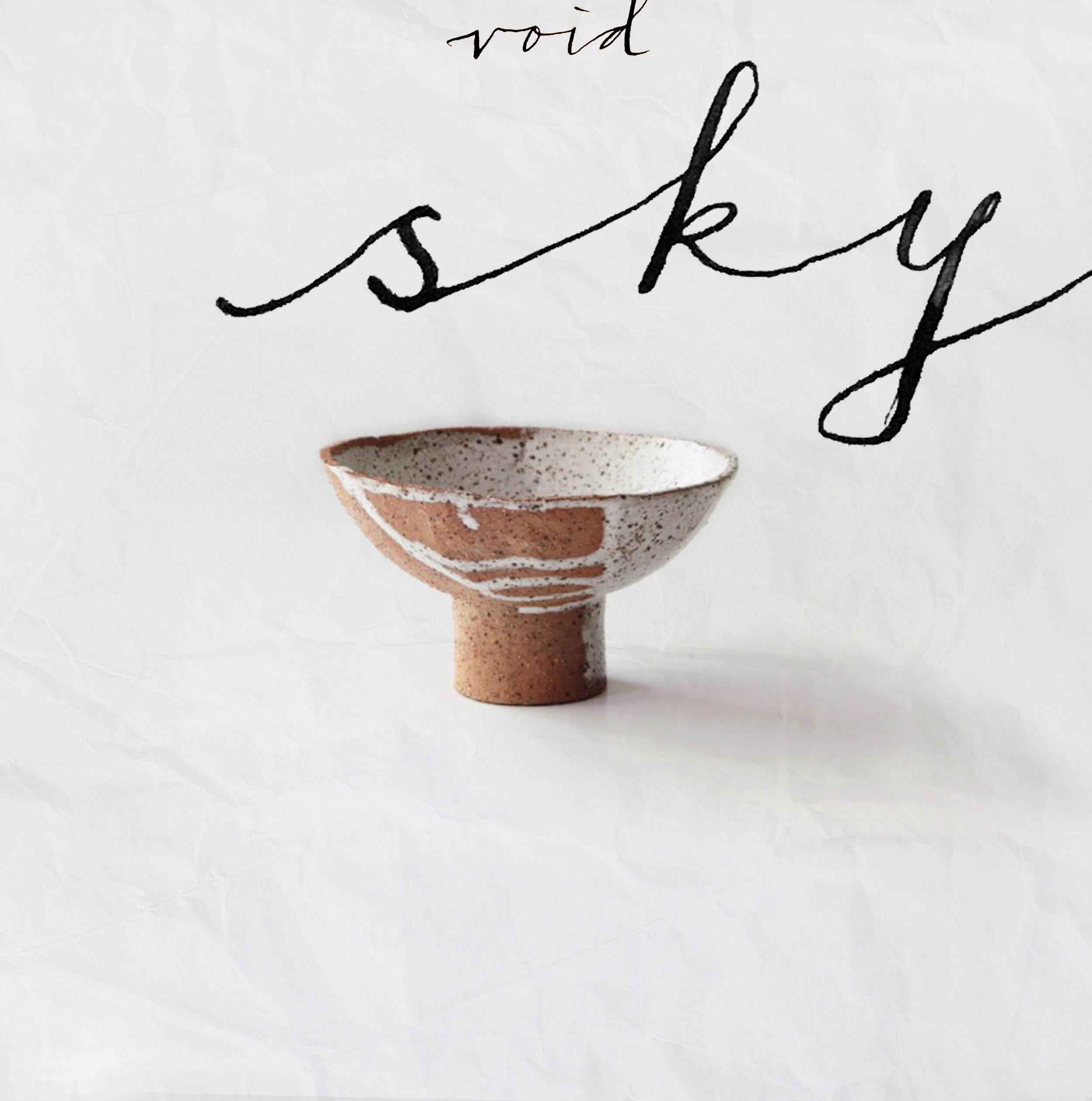 Tengoku - Sky bowl, Speckled | White Drip