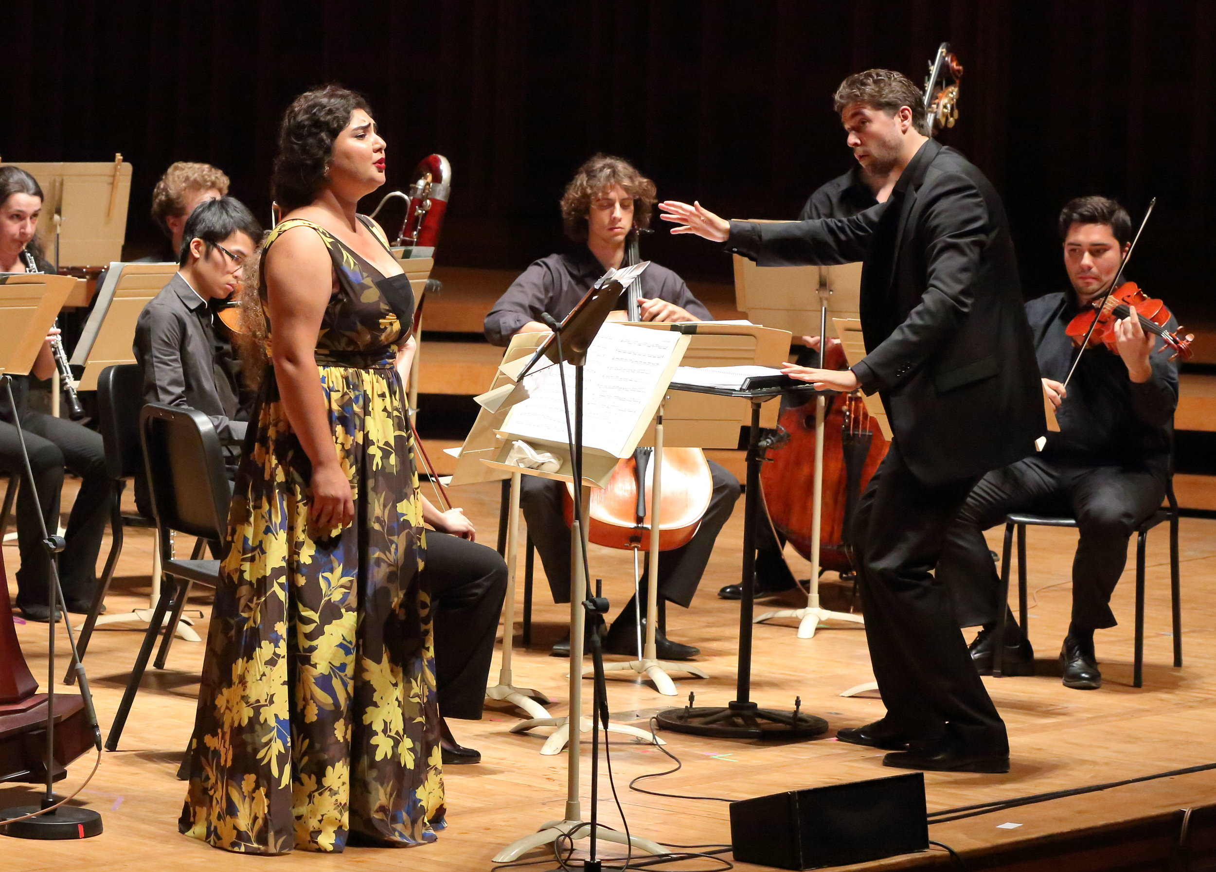Soprano Bahareh Poureslami, conductor Christian Reif, and the TMCO perform Esa-Pekka Salonen's -Five Images after Sappho- (1999), 7.21.2016 (Hilary Scott).jpg