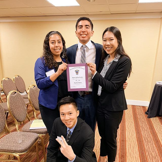 LEAD 2018! Congratulations to Steven for winning District Director of the Year in the Bay Area Region! We cannot thank you enough for your dedication  and compassion you put in our chapter. You are the best!
