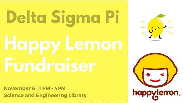 We are having a Happy Lemon fundraiser tomorrow in front of S&E library(1-4PM)‼️ One for $5, or buy one for a friend and get 2 of $8! Come support!! 😆🍋