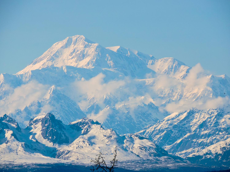 Impressive view of Denali mountain
