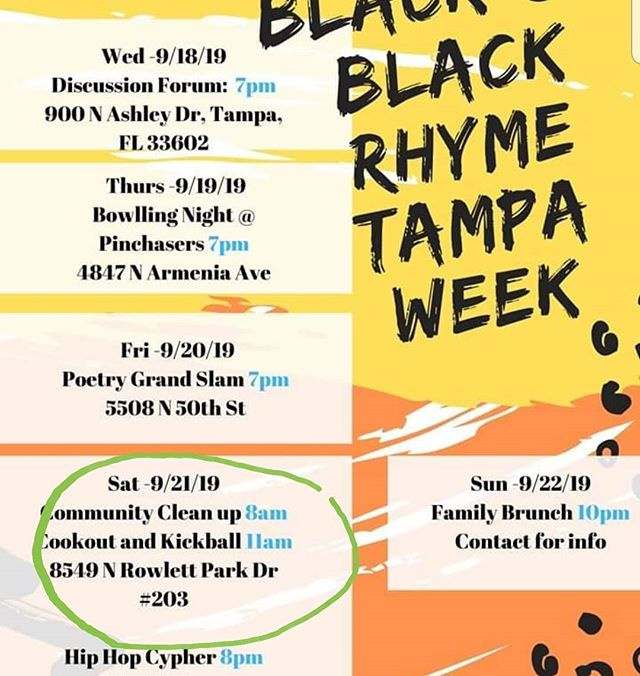 """Happy Monday!!! We are collaborating with Black on Black Rhyme this weekend for a community clean up at Rowlett Park. """"We are a reflection of our community""""  If you would like to join us this weekend please send us a personal message for the sign up link 😏. #black #community #clean #up #Wastenotime"""