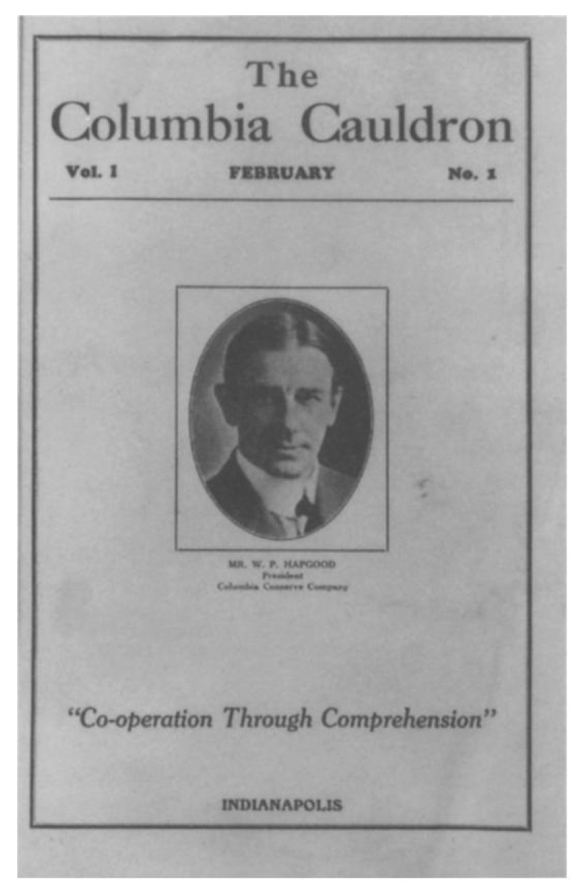 Picture of William P. Hapgood on the cover of the inaugural issue of the Columbia Cauldron, February 1927 (Bussel 1997; crediting The Lilly Library, Indiana University, Bloomington, Indiana).jpg