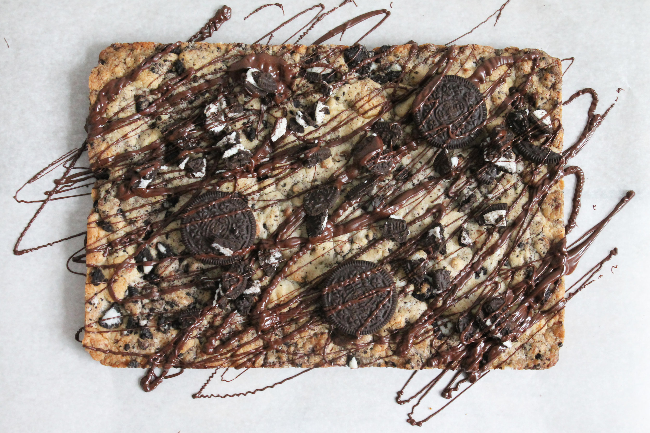 oreo cookie slab, celebration cake alternative