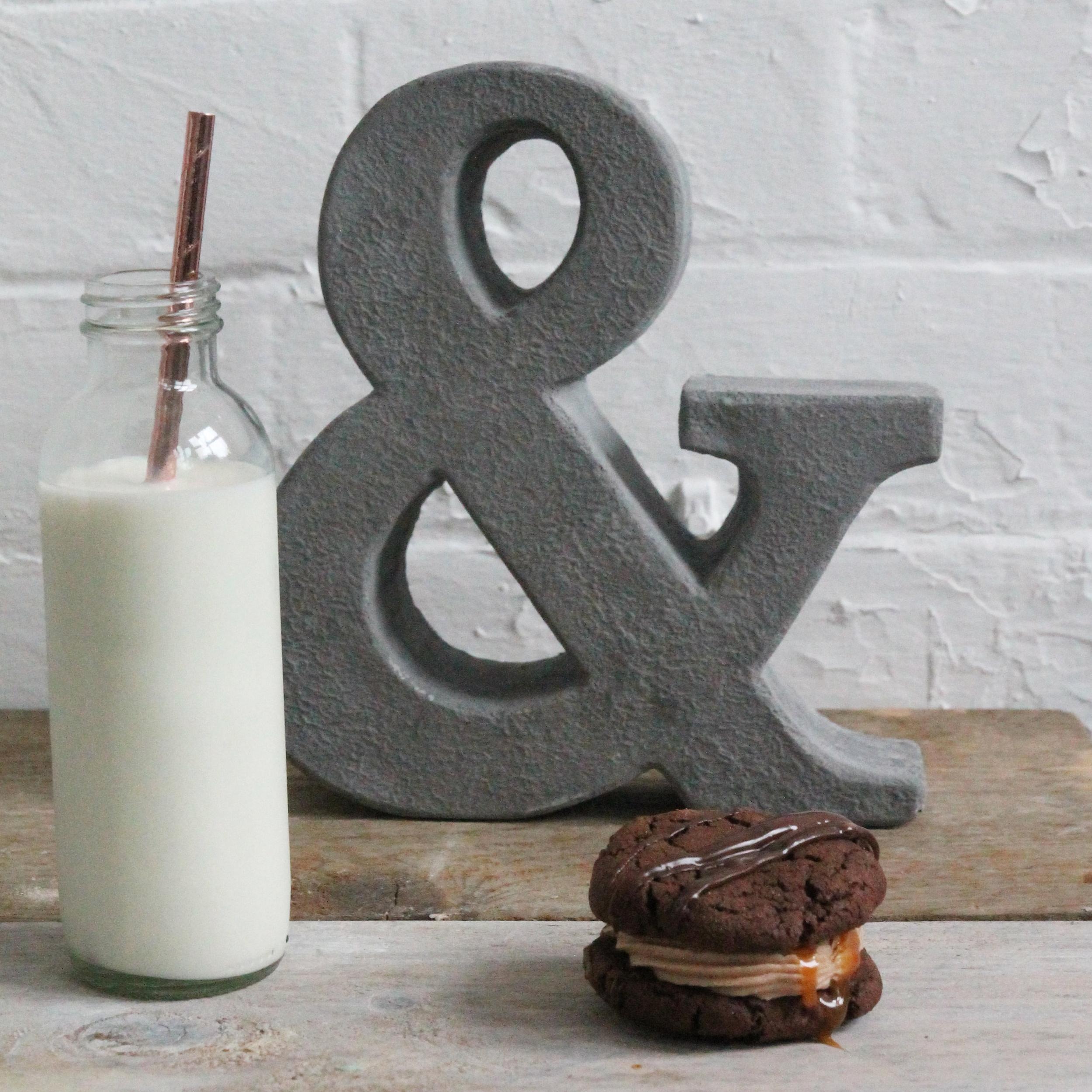 cookie sandwich, office birthday cake ideas
