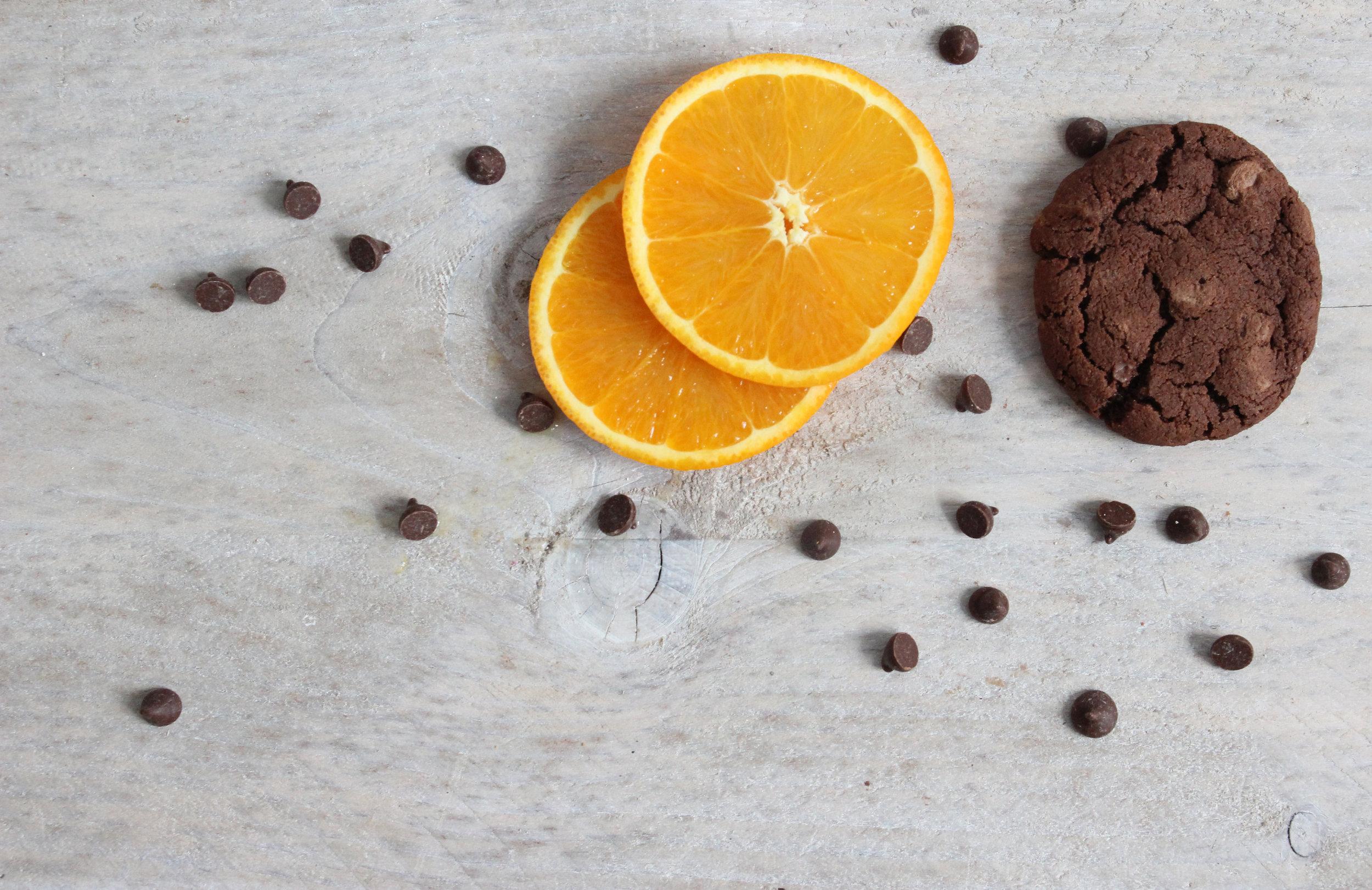 chocolate orange cookie gift