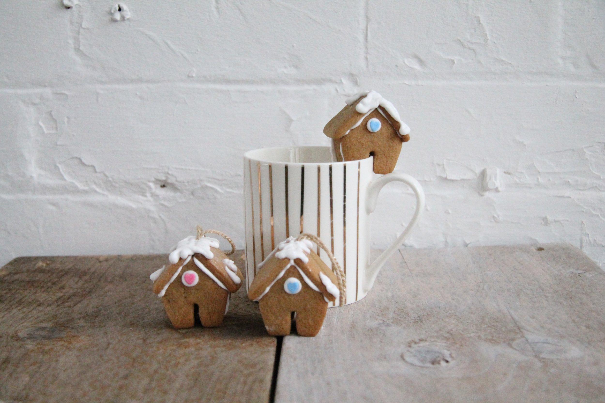 Ginger bread house mug hangers