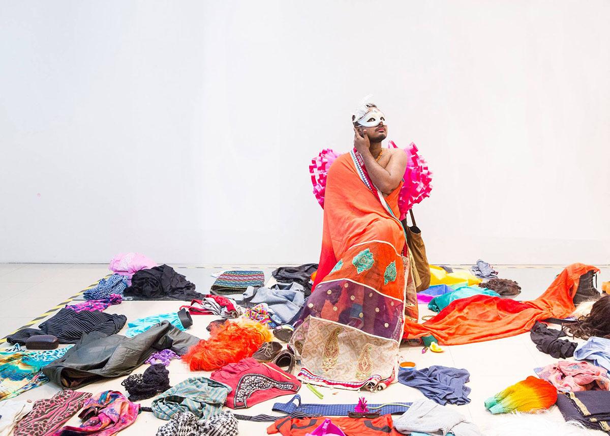 Ali Asgar,  Inside the Zone, Outside your Conscience , 2016. Courtesy of the artist. Photo courtesy of the Dhaka Art Summit and Samdani Art Foundation.Photo credit: Jannatul Mawa