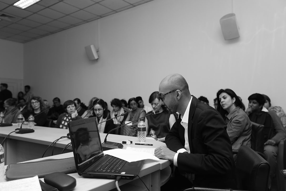 Nabil Ahmed Presentation. Photo courtesy of the Dhaka Art Summit and Samdani Art Foundation.Photo credit: Noor Photoface