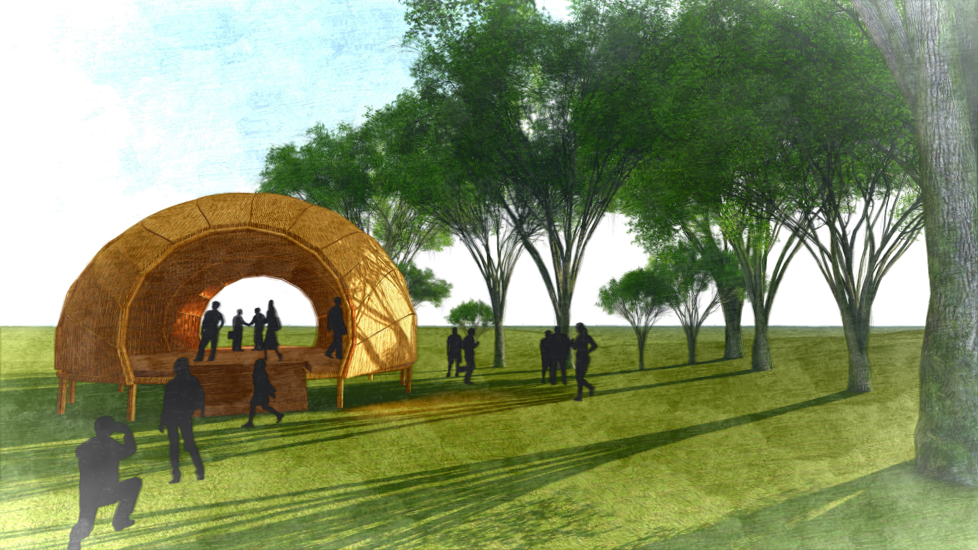 Rendering of the Dhaka Art Summit 2018 Education Pavilion