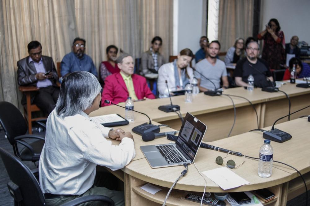 Prashanta Tripura presenting his paper