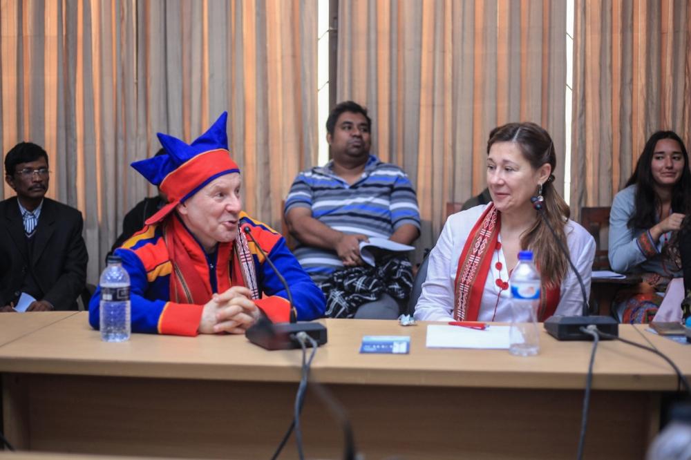 Ánde Somby and Katya García-Antón (L-R)