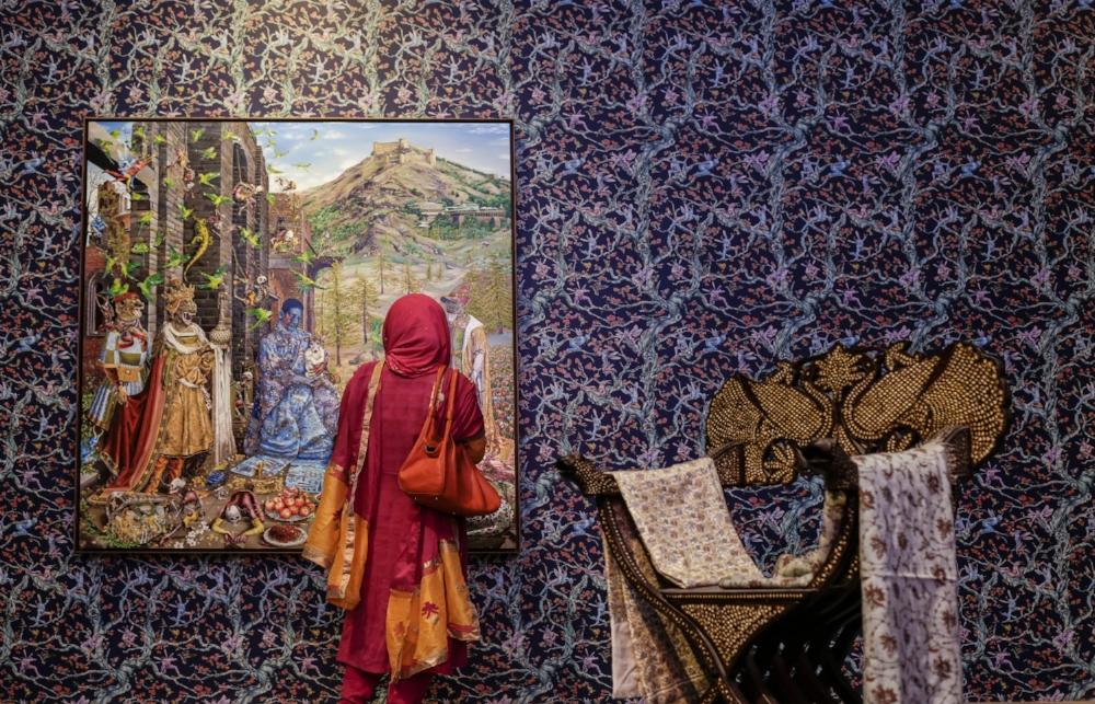 Raqib Shaw:  Kashmir Danae (After Gossaert) (2017)