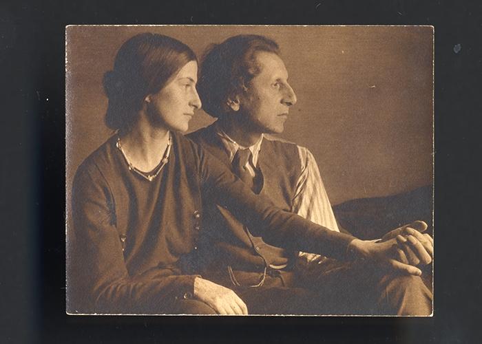Photograph of Ananda and Stella c. 1922