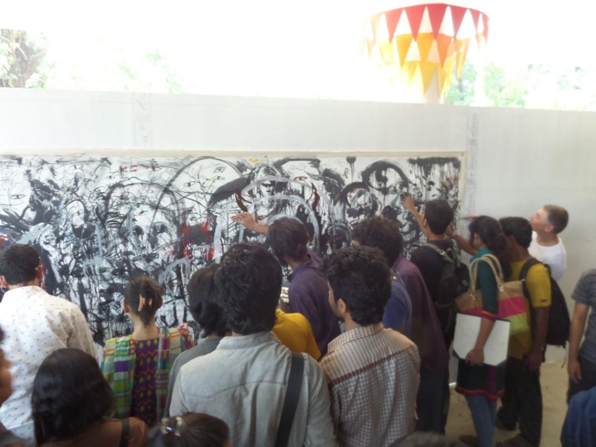 'Death Class' and Draftsmen's Congress by Pawel Althamer, Samdani Seminars 2015. Courtesy of the Samdani Art Foundation.