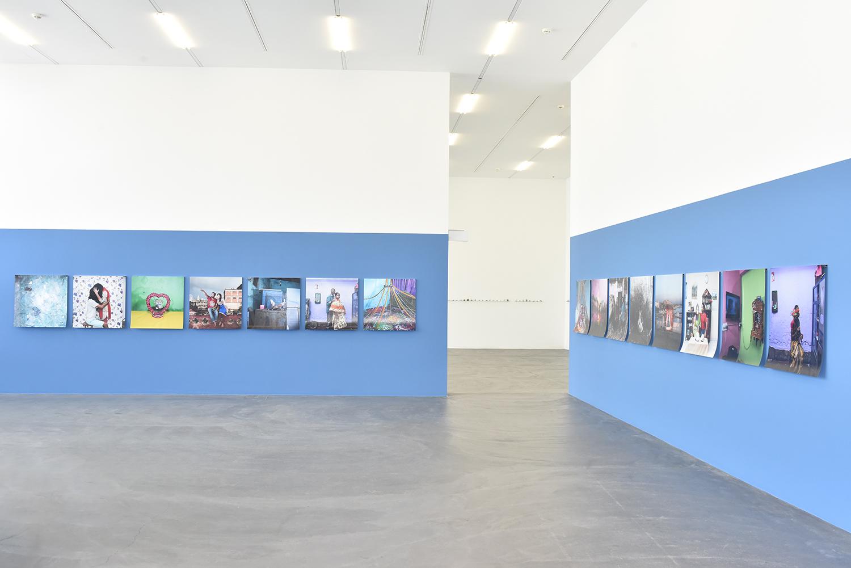 Samsul Alam Helal's  Runaway Lovers  (2016-2017) series on display at Kunsthalle Zürich exhibition 'Speak, Lokal' Image Courtesy: Samsul Alam Helal and Kunsthalle Zürich