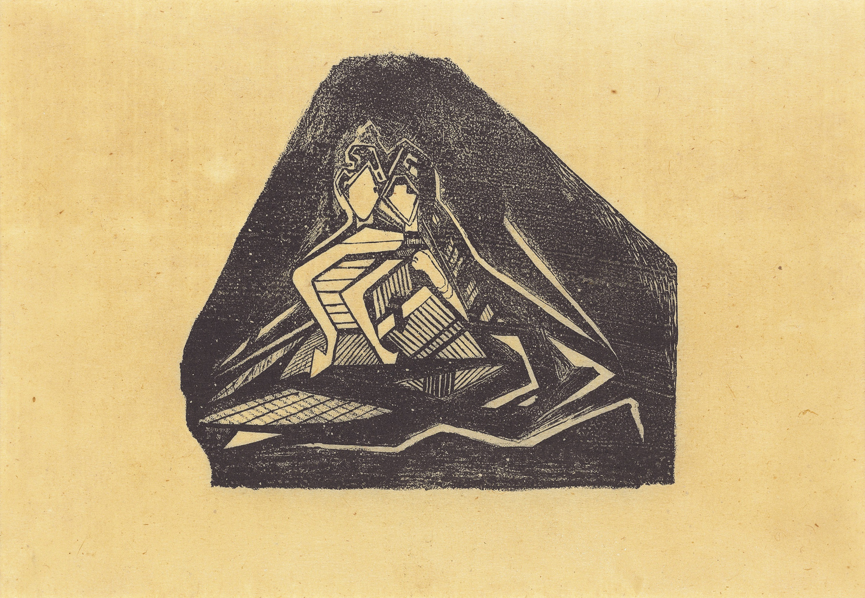 Rabindranath Tagore, Lovers , undated. Courtesy of the Samdani Art Foundation