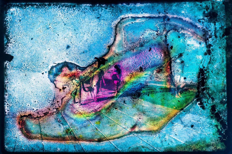 Pablo Bartholomew,  Multi-Coloured Blob II , 1986/2016, archival giclée print.Courtesy of the Samdani Art Foundation .