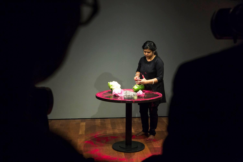 Freedom in Femininity  (2017), performance. Image courtesy: the artist.