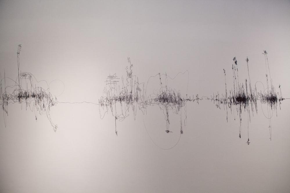 "Liquidity of Sound  (2016), marker pen wall drawing as part of an Open studio at Gyantapash Abdur Razzaq BidyaPeth organised by the Bengal Foundation. Courtesy of the artist.         Normal    0                false    false    false       EN-GB    X-NONE    HI                                                                                                                                                                                                                                                                                                                                                                                                                                                                                                                                                                                                                                                                                                                                                                                                                                                                                                                                                                                                                                                                                                                                                                                                                                                                  /* Style Definitions */  table.MsoNormalTable {mso-style-name:""Table Normal""; mso-tstyle-rowband-size:0; mso-tstyle-colband-size:0; mso-style-noshow:yes; mso-style-priority:99; mso-style-parent:""""; mso-padding-alt:0in 5.4pt 0in 5.4pt; mso-para-margin-top:0in; mso-para-margin-right:0in; mso-para-margin-bottom:10.0pt; mso-para-margin-left:0in; line-height:115%; mso-pagination:widow-orphan; font-size:11.0pt; mso-bidi-font-size:10.0pt; font-family:""Calibri"",sans-serif; mso-ascii-font-family:Calibri; mso-ascii-theme-font"