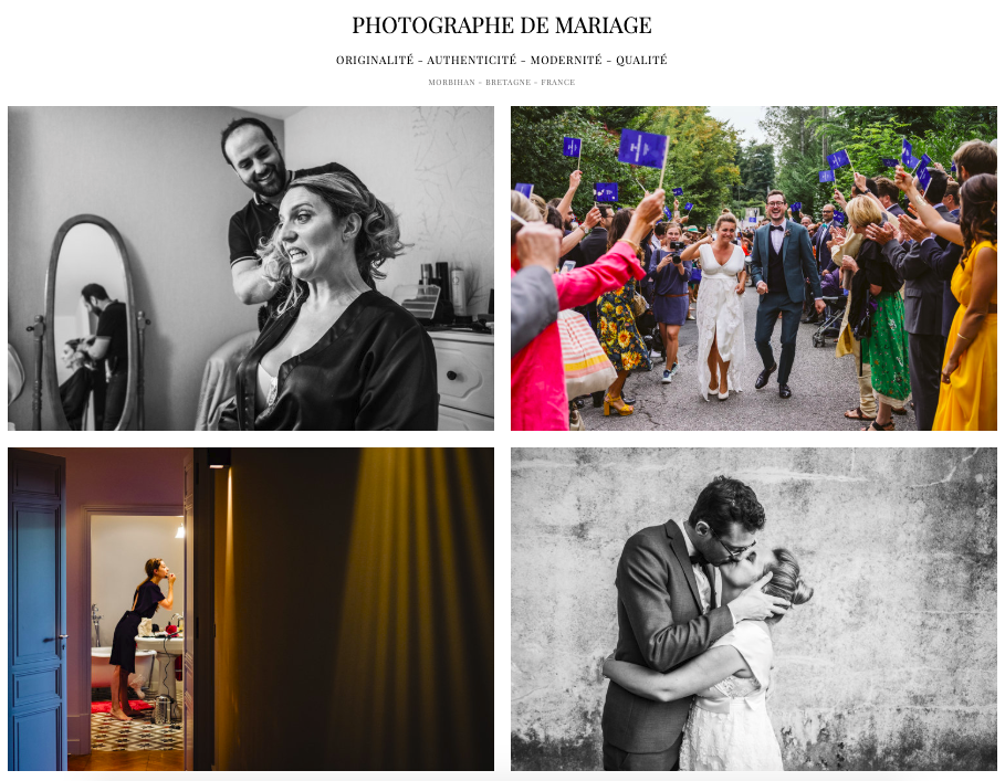 Photographe mariage Manoir Kerangosker Morbihan France