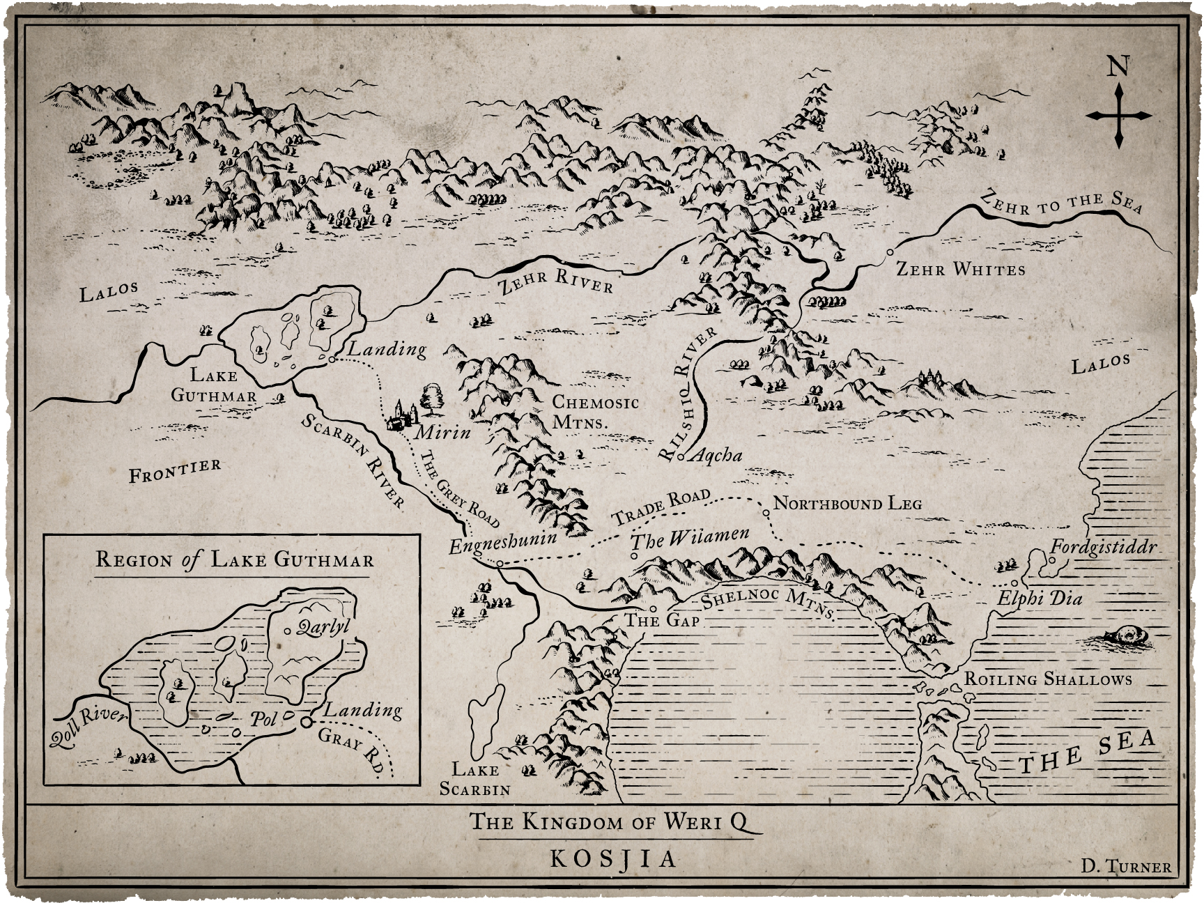 medieval fantasy book map
