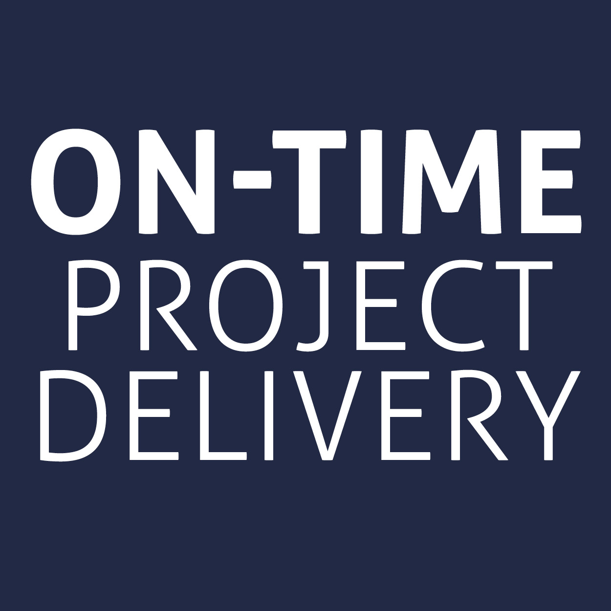 On time project delivery