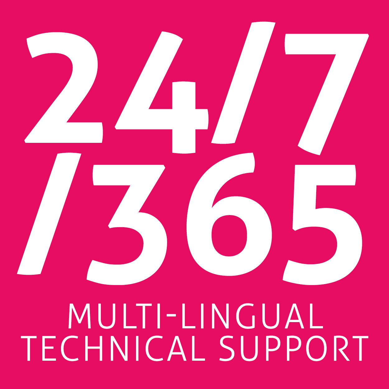 24/7/365 multi-lingual support