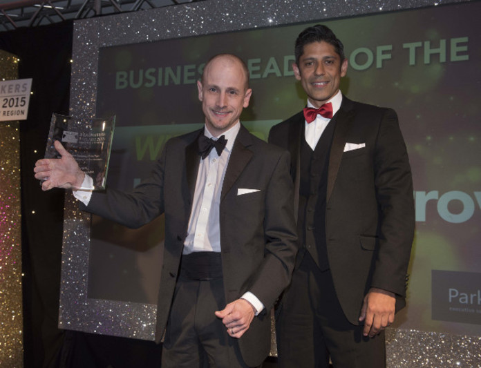 Business Leader of the Year Winner: Jonathan Burrows, ASK4, Presented by Lee Bhandal, managing partner of Parkinson Lee Executive Search