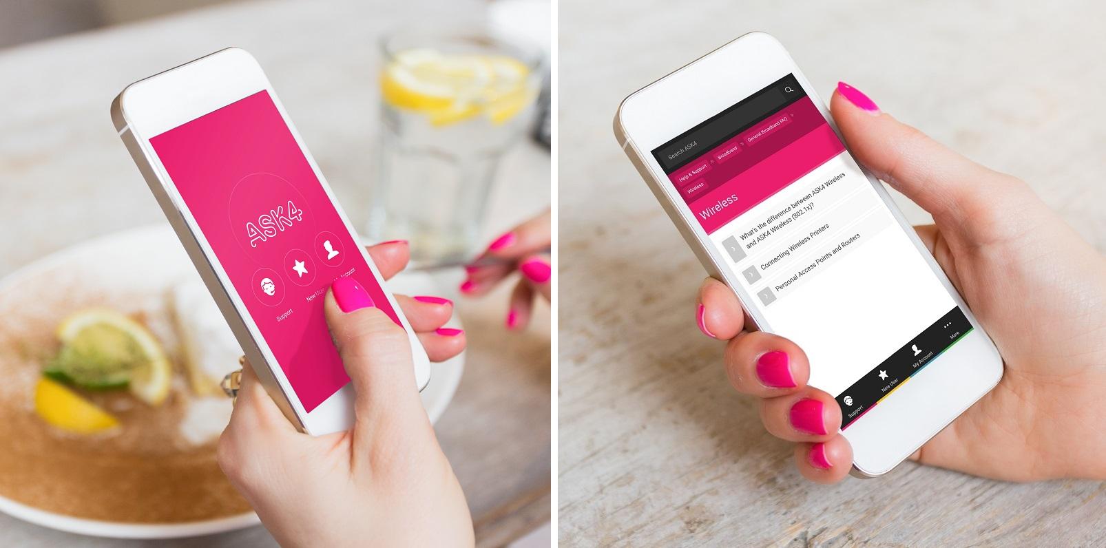ASK4 App Screens