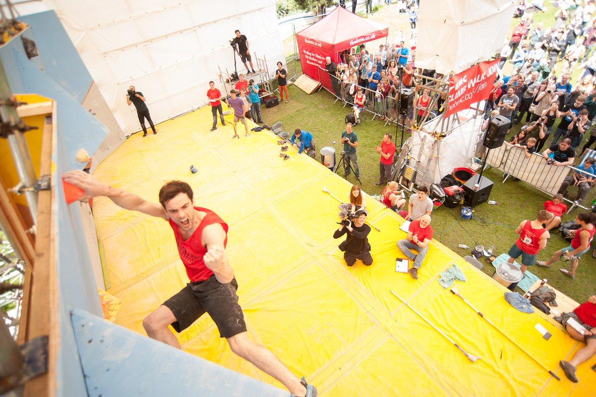 Matt Cousins becomes British Bouldering Champion 2016. Photo: Alex Messenger