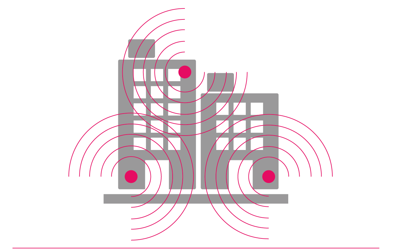 A managed wireless network in a multi-tenant building is a shared network, providing WiFi access for every tenant in the building.