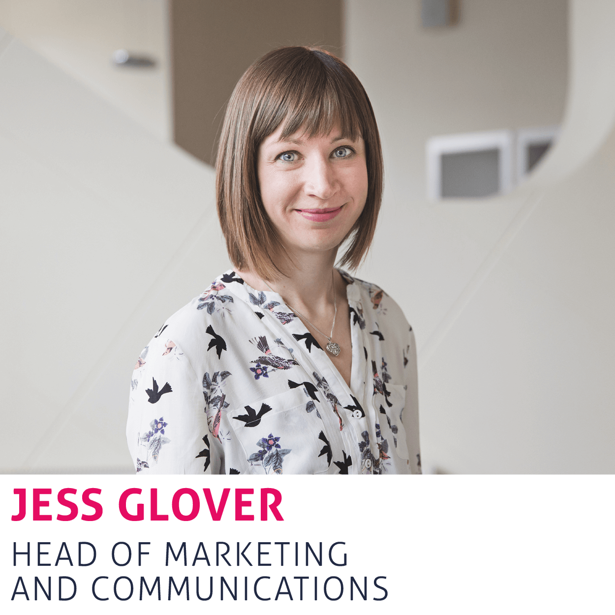 Jess Glover, Head of Marketing and Communications