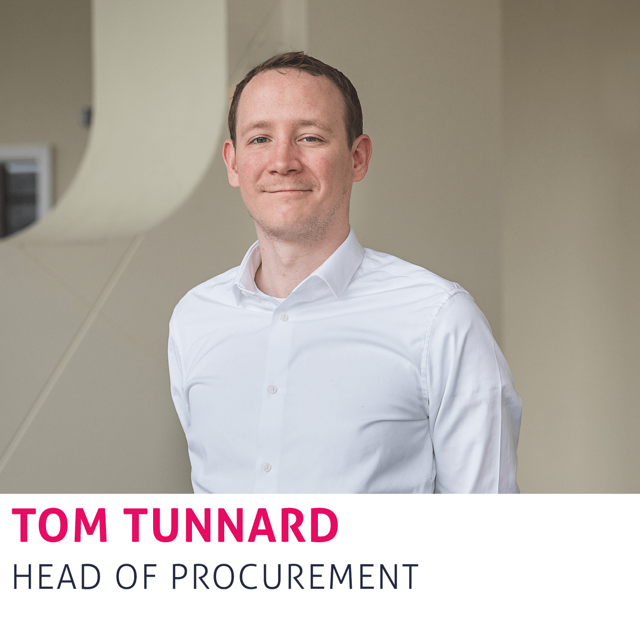 Tom Tunnard, Head of Procurement