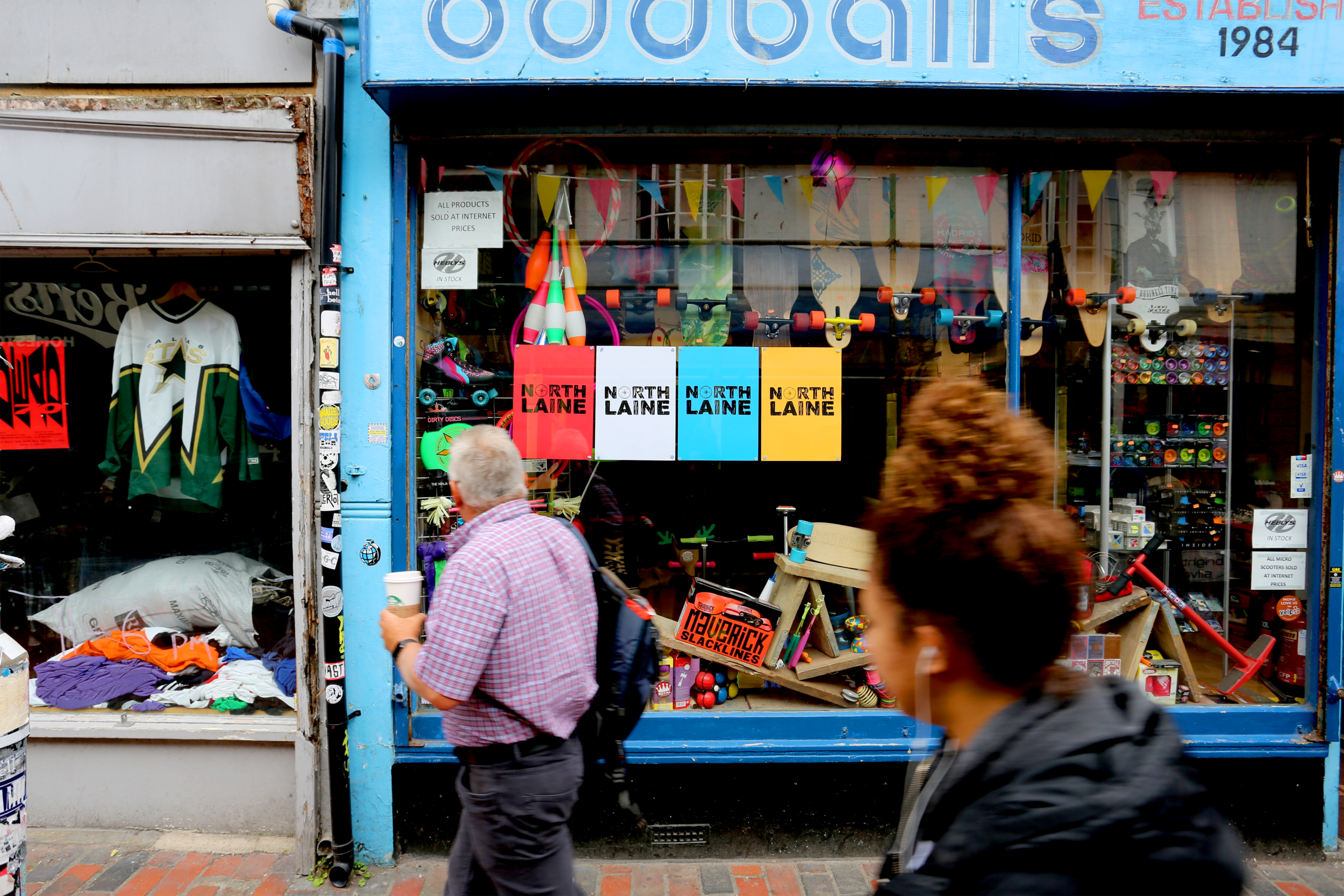 North Laine - North Laine branding and identity project to give the area a unique sense of individuality within Brighton's historical shopping area.