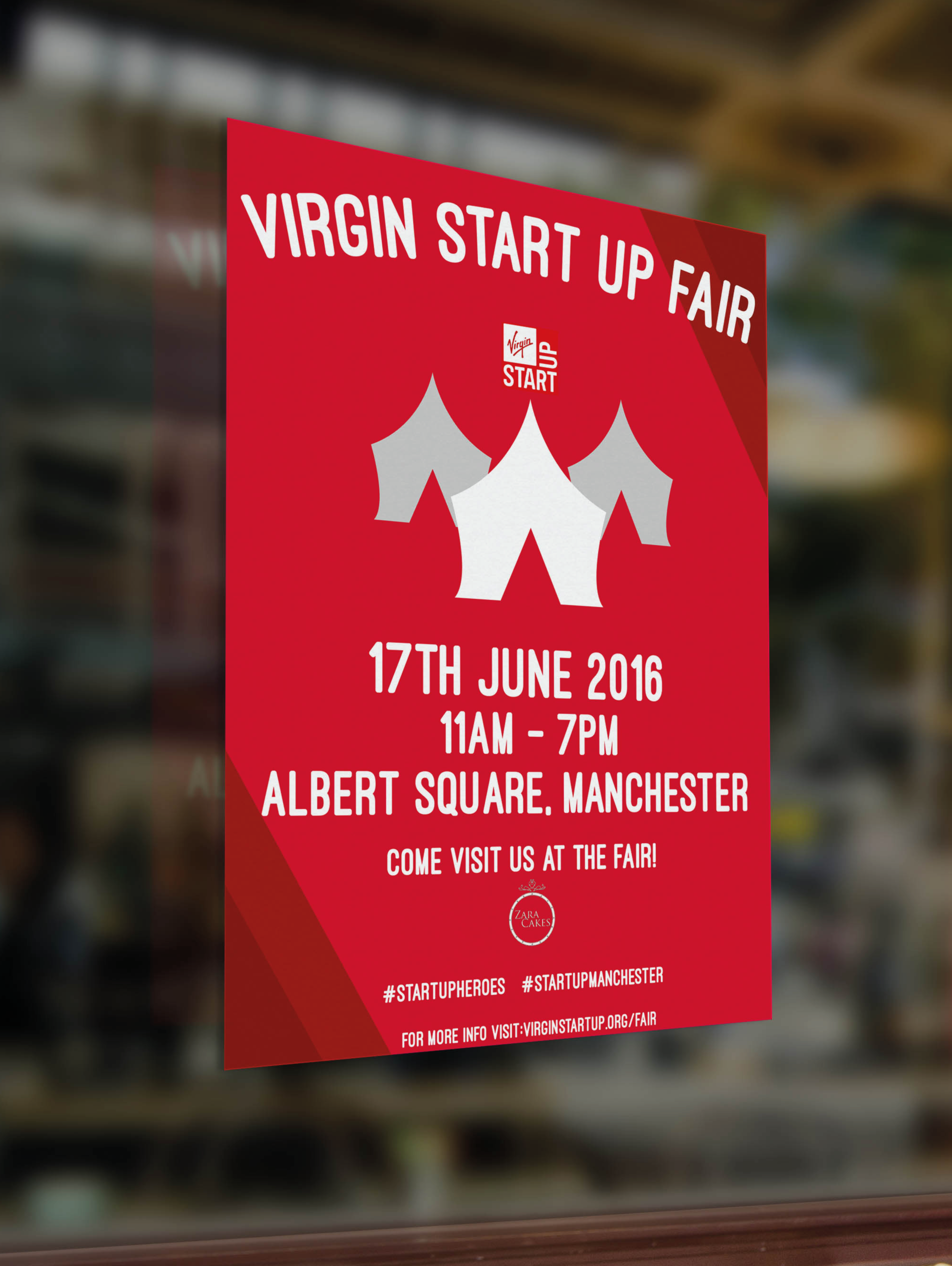 VirginStart Up - Award winning AUB 24 hour brief set by Virgin. The Virgin Start Up Fair is an annual event that runs across major cities in the UK to celebrate Virgin Start Up businesses.