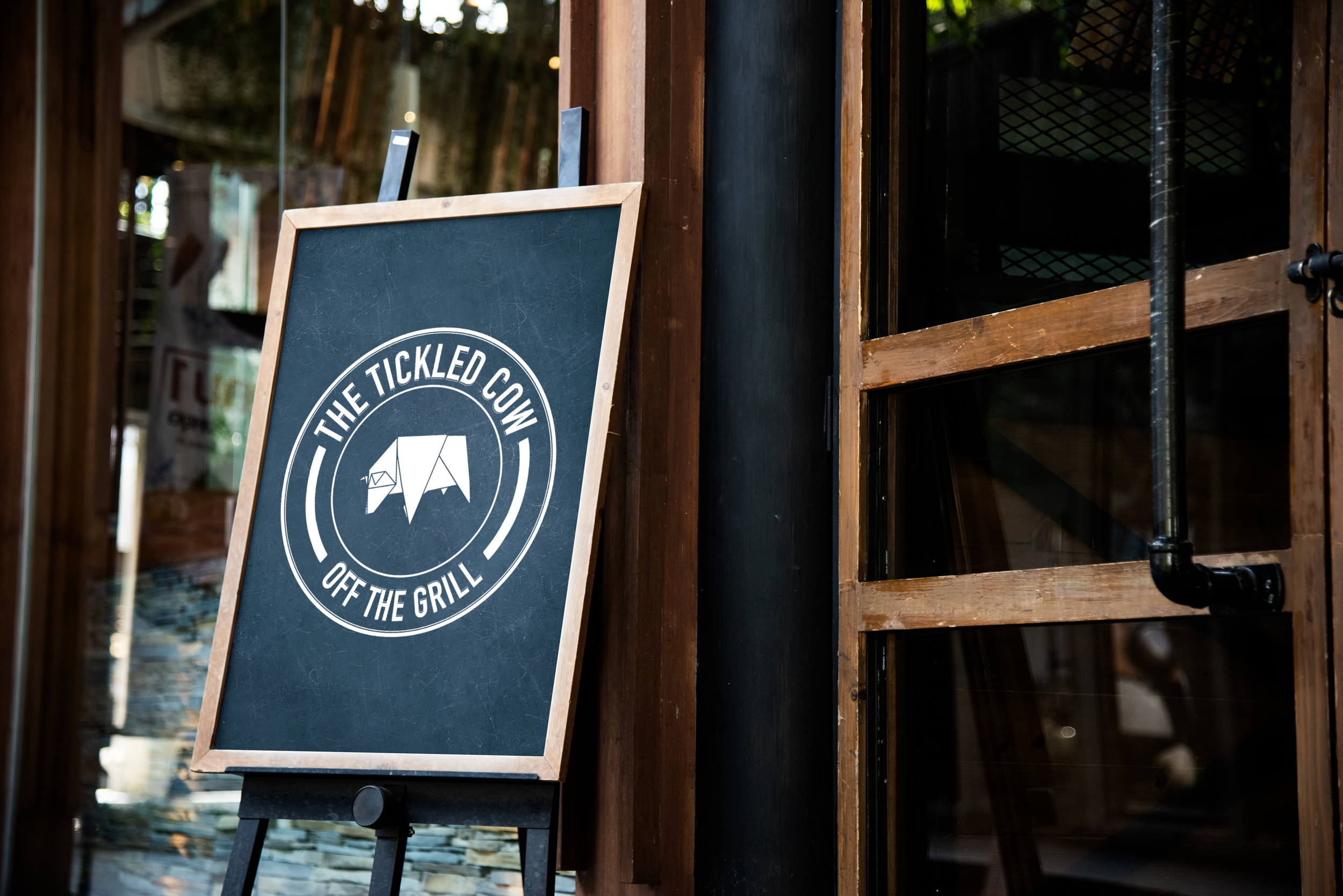 Tickled Cow - CHS Creative Agency brief to create and design a logo and menu for a chain of new bistro gastro pubs.