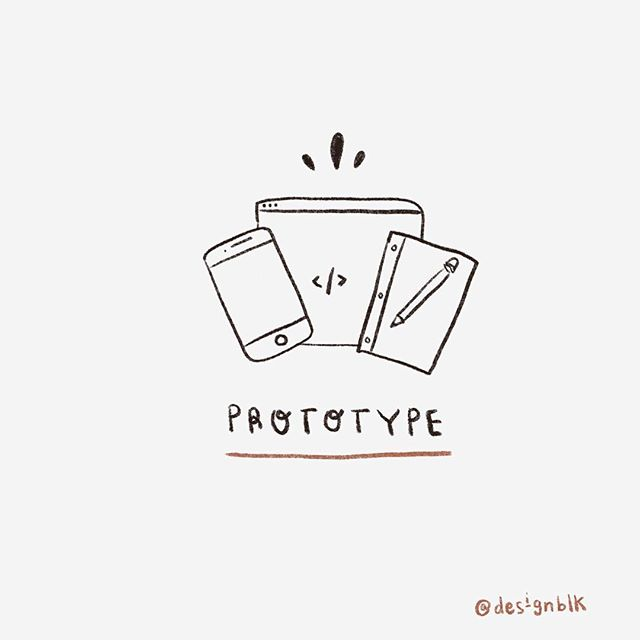Prototype 〰️ 👩🏽💻👨🏿💻There are many ways to prototype an idea, but most designers still start with pen and paper 📝 #designblk