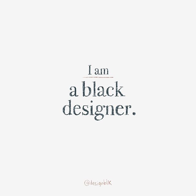 Are you a black designer? We want to feature you!  Leave a comment below or tag your favorite designer friends, and heroes!  #designblk 👩🏽💻👨🏿💻👩🏿🎨👨🏽🎨