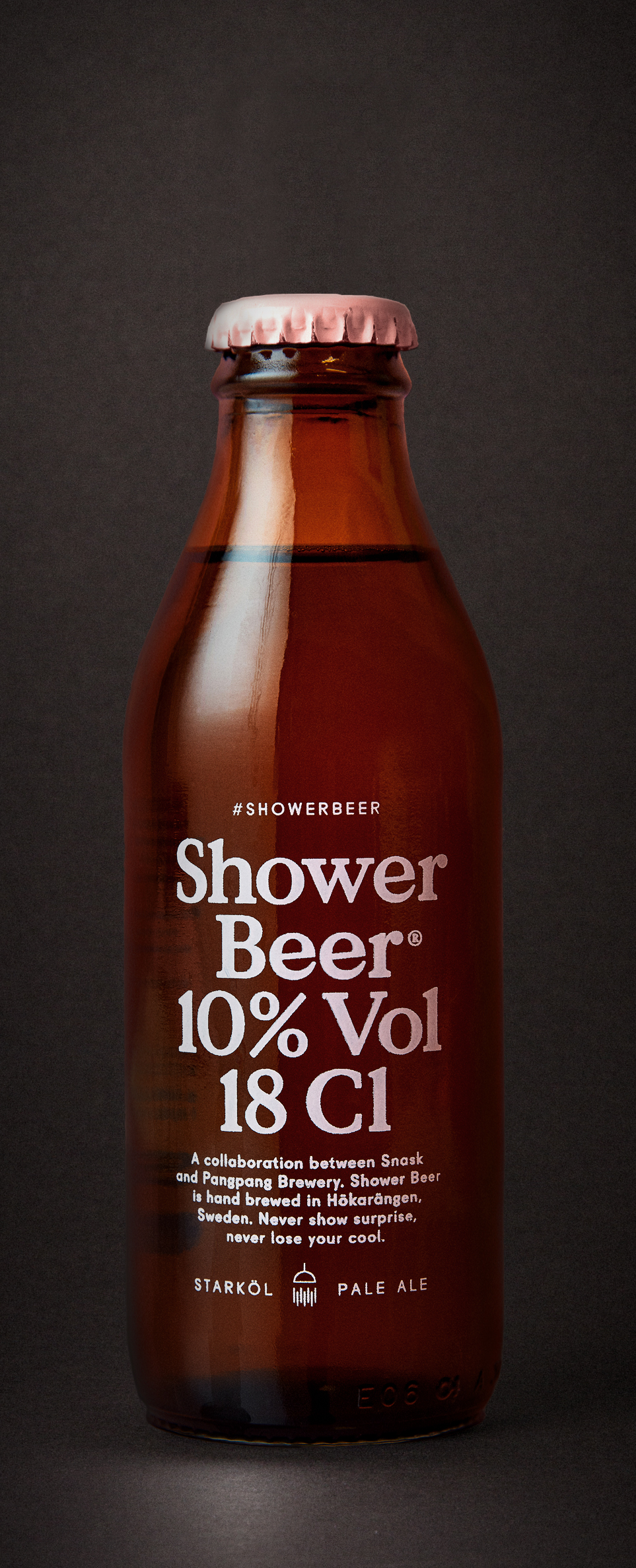 Shower Beer  Extra PaleAle dry hopped with enough Citra to double as a hair conditioner.  10,0% · 33 centiliter