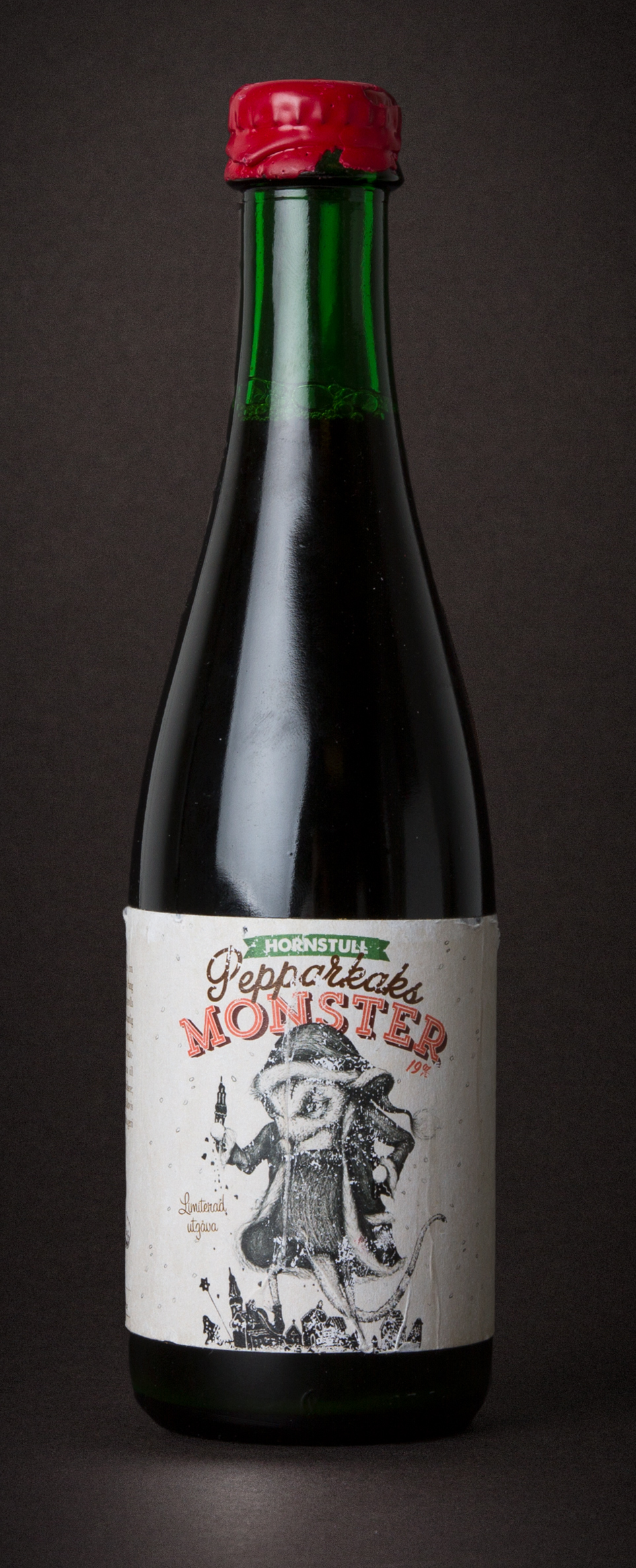 Pepparkaksmonstret  Freeze Distilled Ginger Bread Ale, and the strongest beer in Swedish history. 19,0% · 50 centiliter