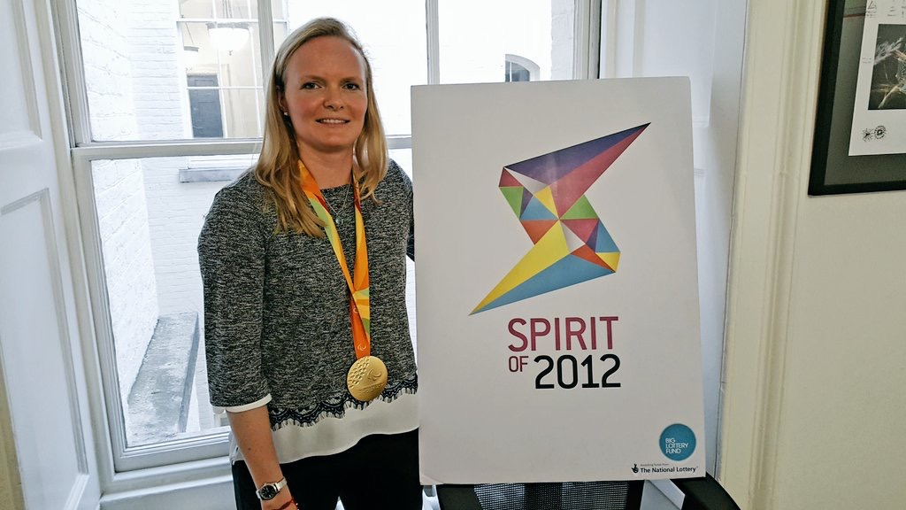 Susie at the Spirit of 2012 HQ, for which she serves as a Trustee