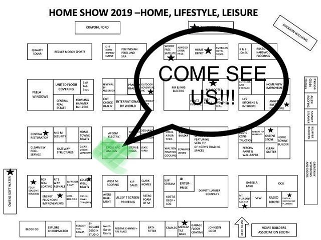 Looking for something to do this weekend? Stop by the Central Michigan Home Show and meet all the great vendors! Don't forget to stop by our cabinet shop's booth!!! We love talking with homeowners and builders about their upcoming projects! @cross_and_lincoln @hba_cm #customcabinets #cabinets #kitchencabinets #countertops #vanities #kitchendesign #cabinetdesign #kitchenremodel #bathroomremodel #newhome